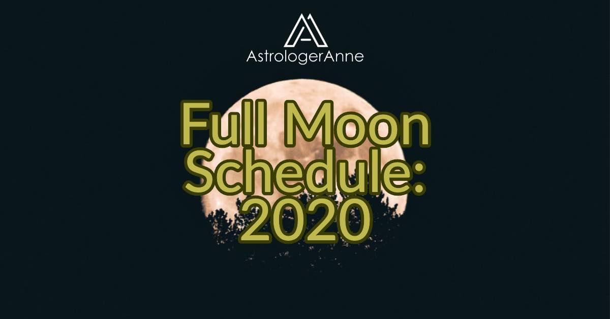 Full Moons in 2020