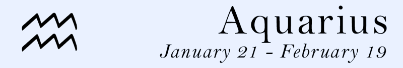 Aquarius symbol and dates