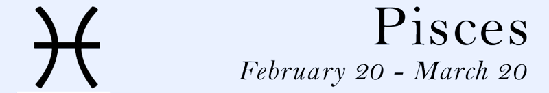 Pisces symbol and dates