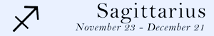 Sagittarius zodiac sign symbol and dates