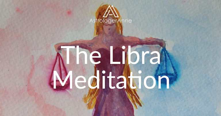 Libra meditation - Libra watercolor painting by Anne Nordhaus-Bike-all-rights-reserved