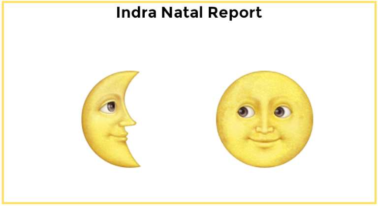 Astrology birth chart reports Indra Natal Report