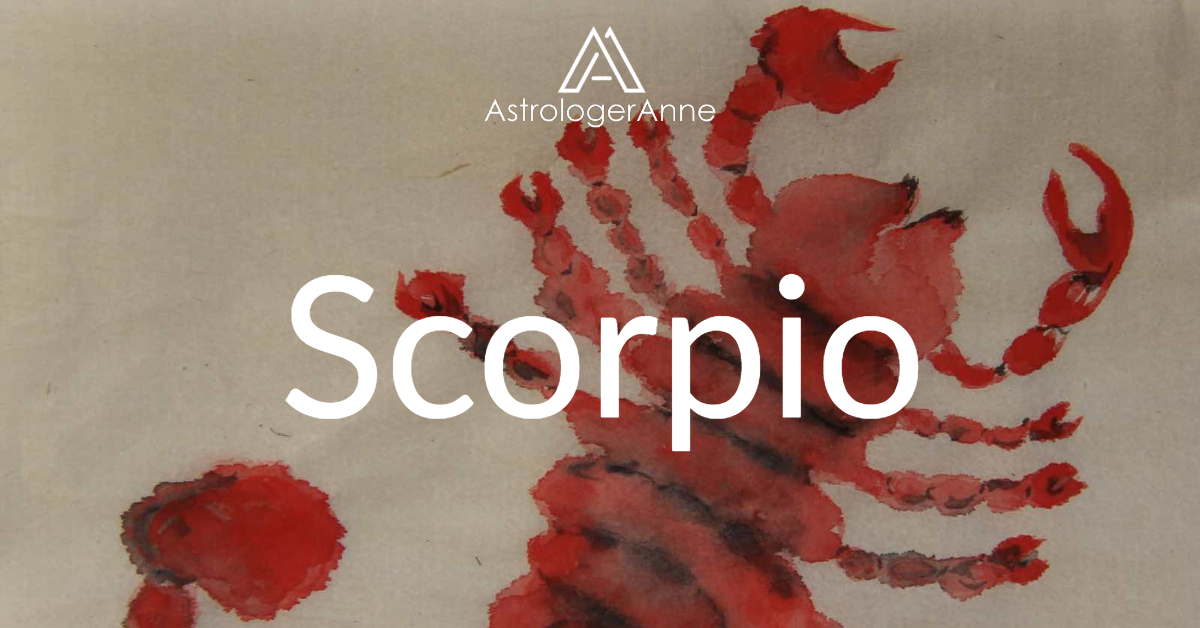 Scorpio traits - Scorpio watercolor painting by Anne Nordhaus-Bike-all-rights-reserved