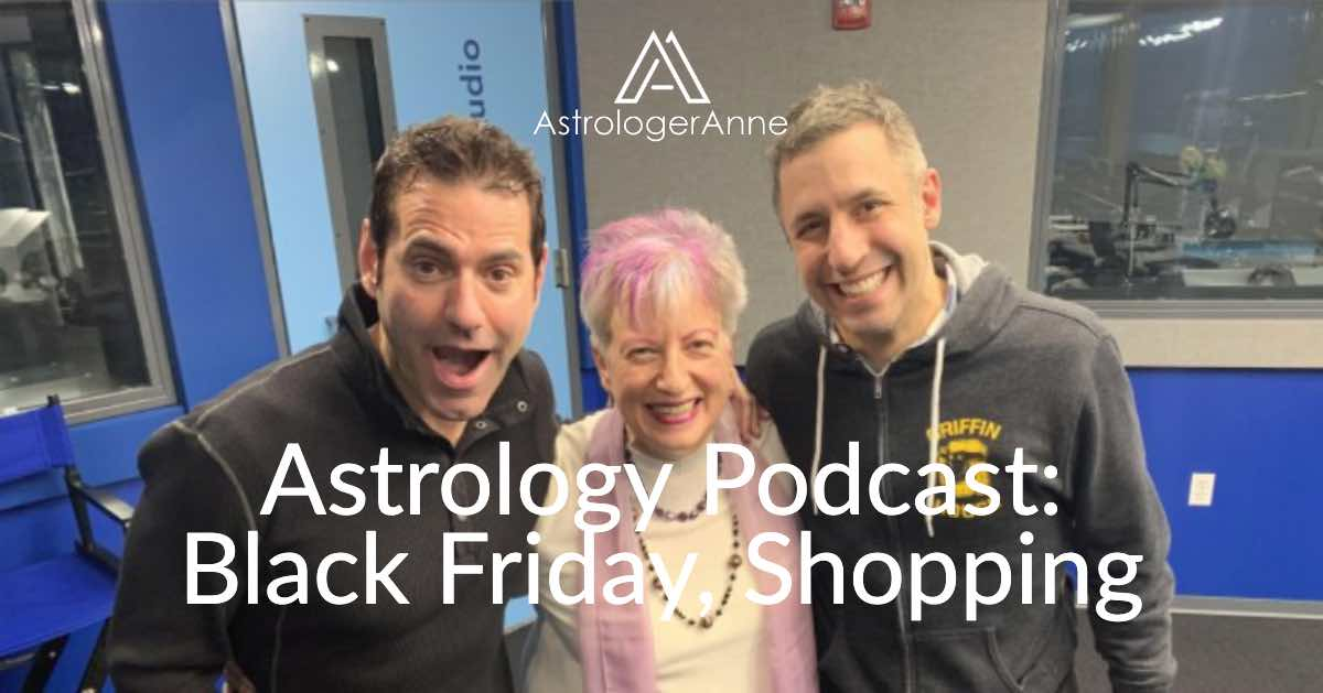 Astrologer Anne Norhdaus-Bike at WGN Radio for Black Friday