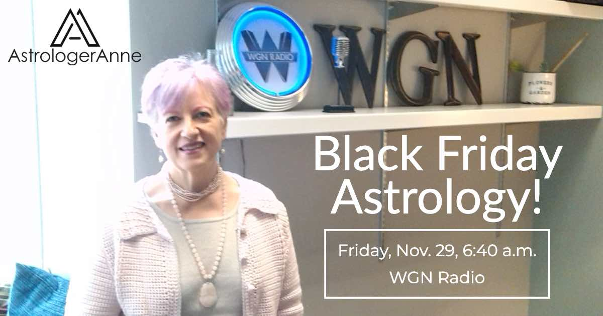 Astrologer Anne Nordhaus-Bike at WGN Radio, Black Friday